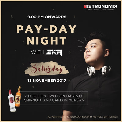 Pay Day Night with Eka on 18 November 2017