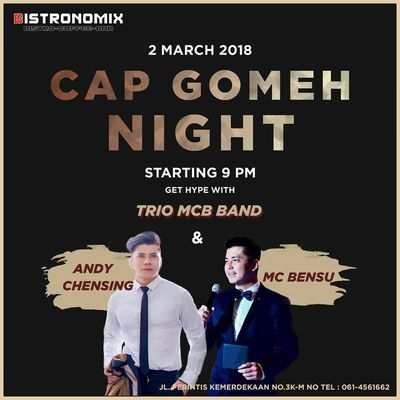 cap go meh night at bistronomix cafe medan
